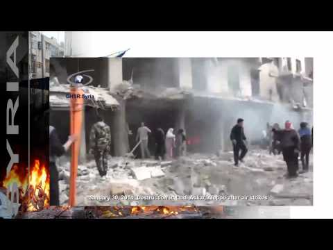 news   20140130   Destruction in Qadi Askar, Aleppo after air strikes