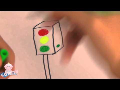 cu tí dạy bé vẽ cột đèn giao thông