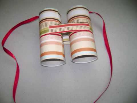 How to make toilet paper rolls binoculars
