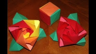 Origami Rose Cube How To Make An Origami Magic Rose Cube