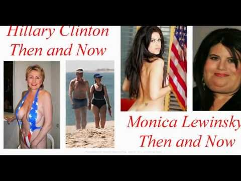 Then and Now Hillary Clinton and Monica Lewinsky Weight Gain  #97