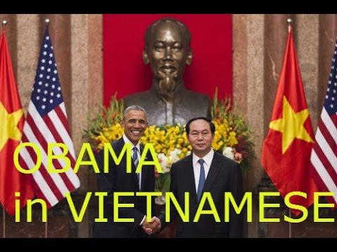 OBAMA visit Vietnamese - Chủ tịch nước Trần Đại Quang tiếp đón tổng thống Mỹ OBAMA