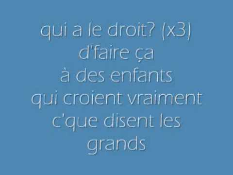 Patrick Bruel - Qui a le Droit - paroles