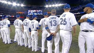 NYY@TOR: Blue Jays introduced for Opening Day