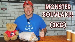 Monster GREEK Souvlaki Challenge in MELBOURNE!!