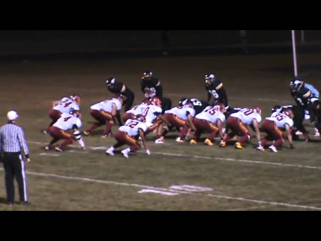 10-12-12 - It's Kyle Rosenbrock's 3rd TD of the game (Brush 19, Valley 13)