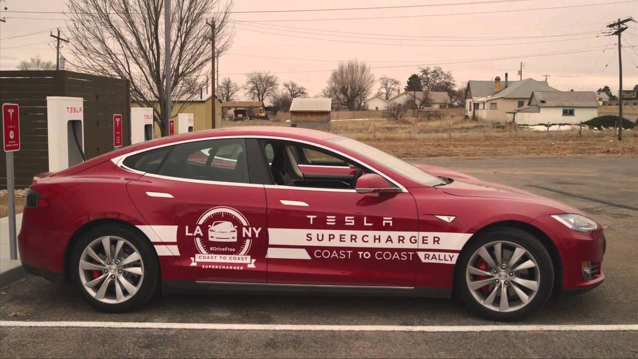 Tesla Model S Cross Country Rally Los Angeles To New