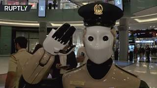 World's first robot cop goes on duty in UAE- Exclusive vid..
