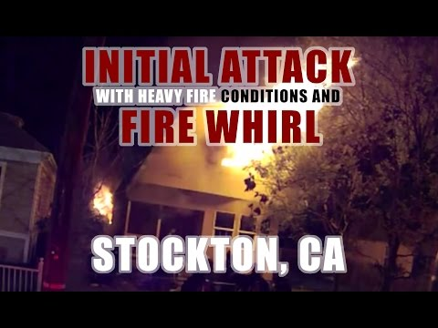 Helmet cam: House fire in Calif.