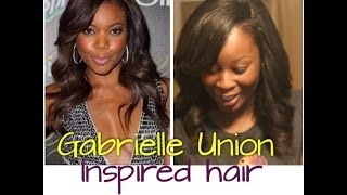 Easy Gabrielle Union Inspired Side Part Sew In Tutorial