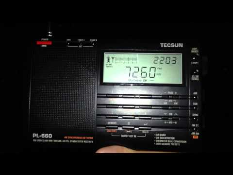 China Radio International - Urumqi, China - 7260kHz - TECSUN PL-660