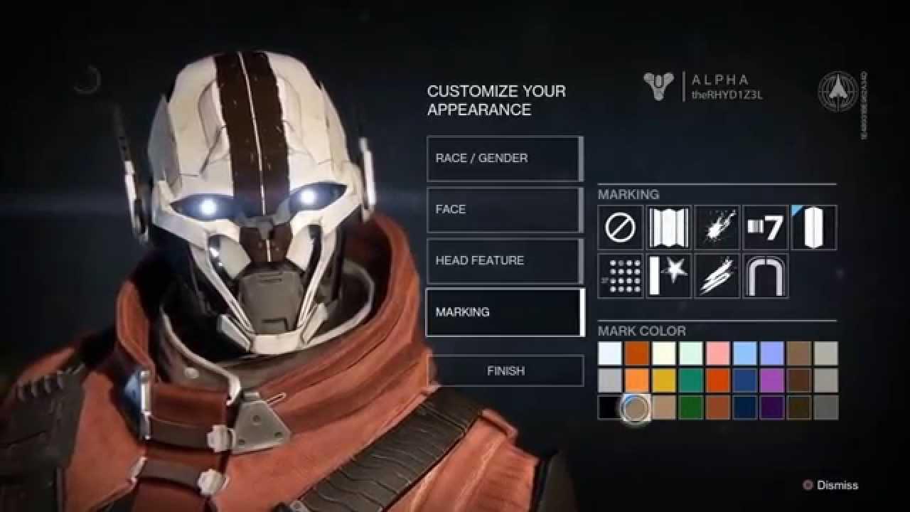 Destiny alpha character customization warlock exo youtube