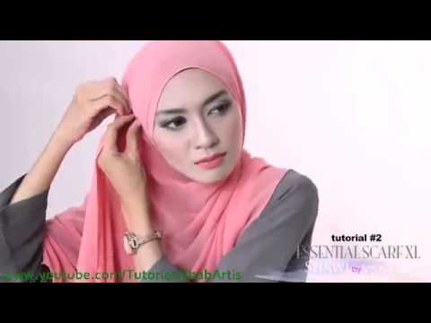Tutorial hijab pashmina simple Kreasi Shawlbyvsnow   Hijab Tutorial with VS Essential Scarf XL