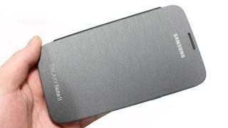 Official Samsung Galaxy Note 2 Flip Cover Review Silver