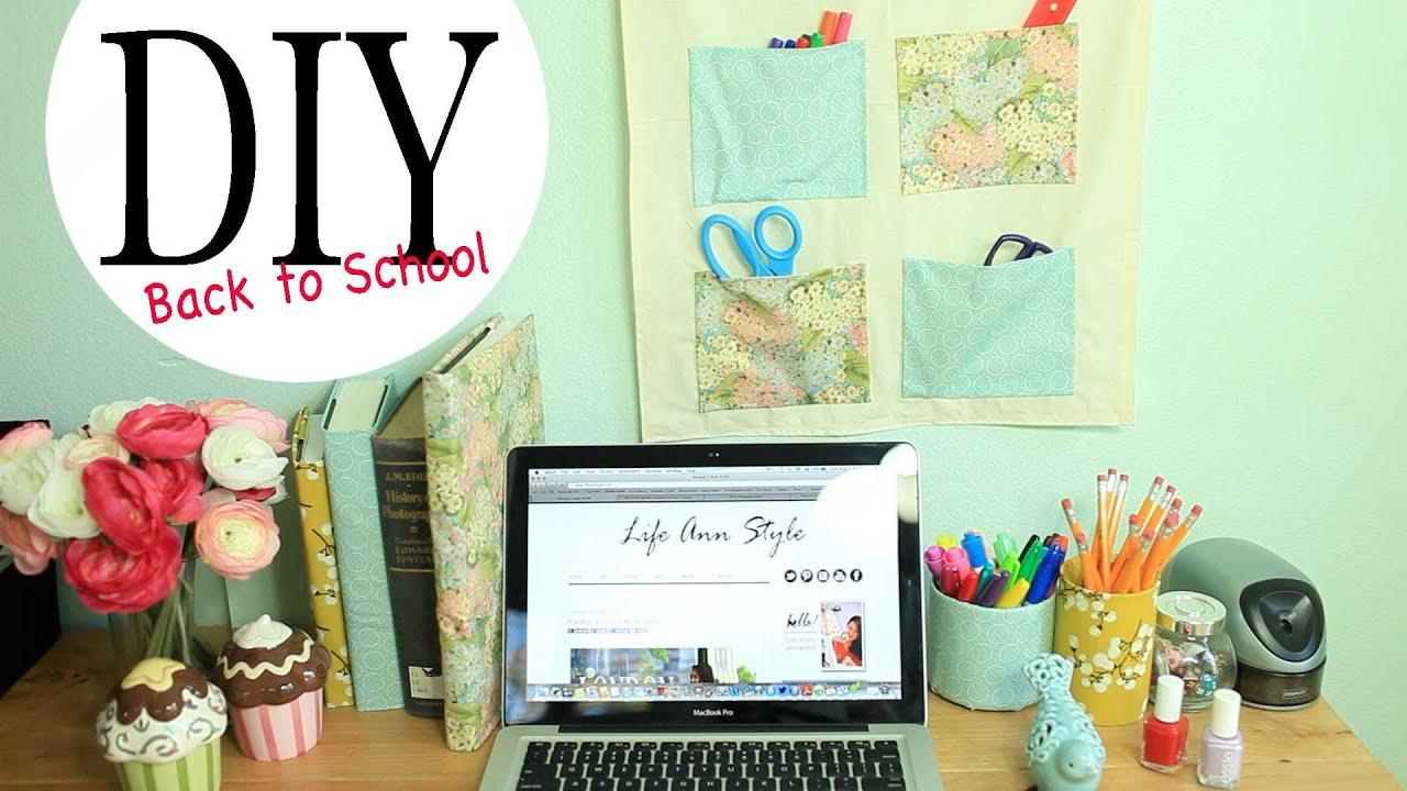 Diy Wall Organizer Amp Desk Accessories Back To School