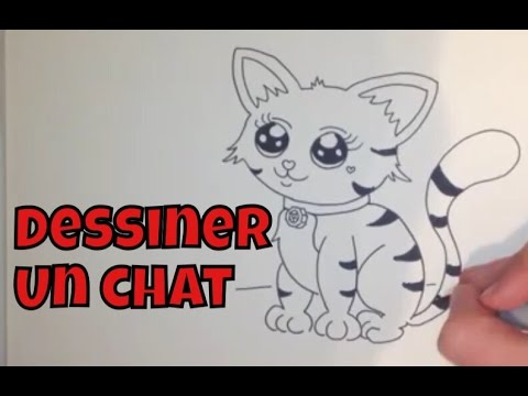 Comment dessiner un chat facile tape par tape youtube - Chat facile a dessiner ...