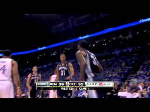 Grizzlies vs Thunder - 05/01/11 Game 1 NBA Playoffs  - Recap & Highlights