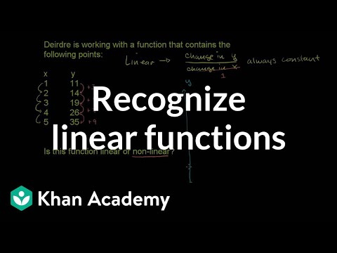 Recognizing Linear Function