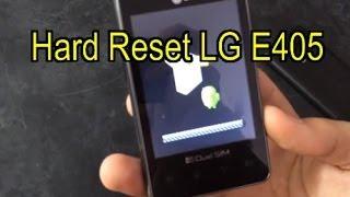 Hard Reset LG L3 E405
