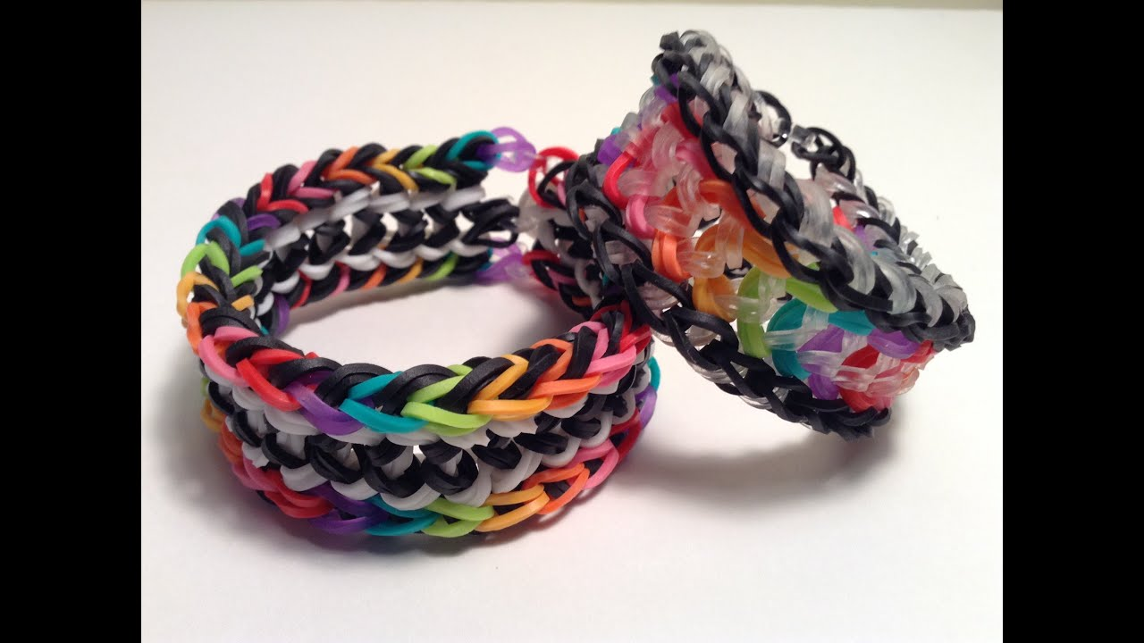 how to make a dragon scale rubber band bracelet
