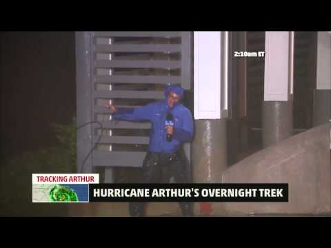 Hurricane Arthur Makes Landfall in North Carolina; First Category 2 Landfall in U S  Since 2008   we