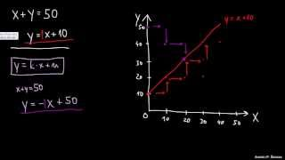 Reševanje sistema dveh enačb grafično 3