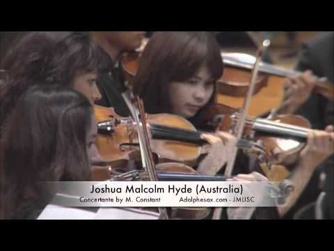 3rd JMLISC Joshua Malcolm Hyde (Australia) Concertante by M. Constant