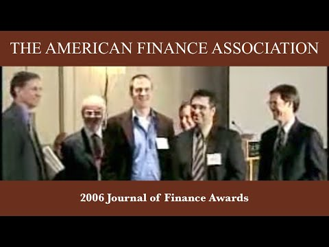 2006 Journal of Finance Awards