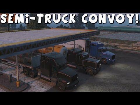 Grand Theft Auto 5 | Semi-Truck Convoy | Part 1