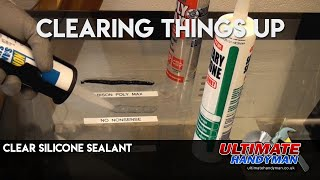 Clear Silicone Sealant test