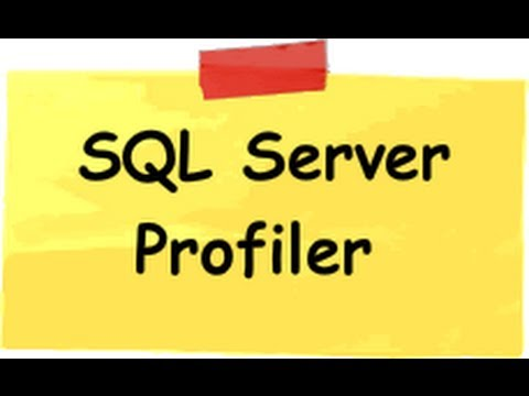Improve SQL Server performance using profiler and tuning advisor