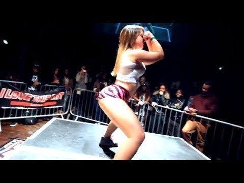 3 Girls on 1 Guy – Twerking Contest – The Jump Off 2014 #4