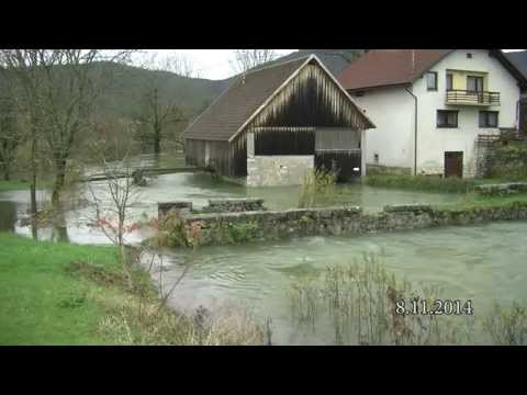 Poplave v Loški dolini - prispevek 9.11.2014