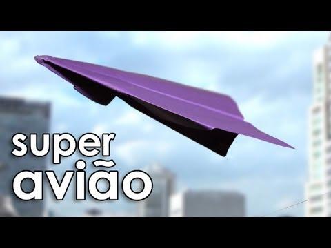 Como fazer o super avião de papel (dobradura / origami)