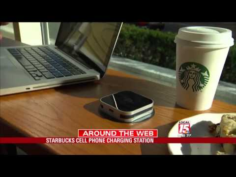 Starbucks Cell Phone Charging Station