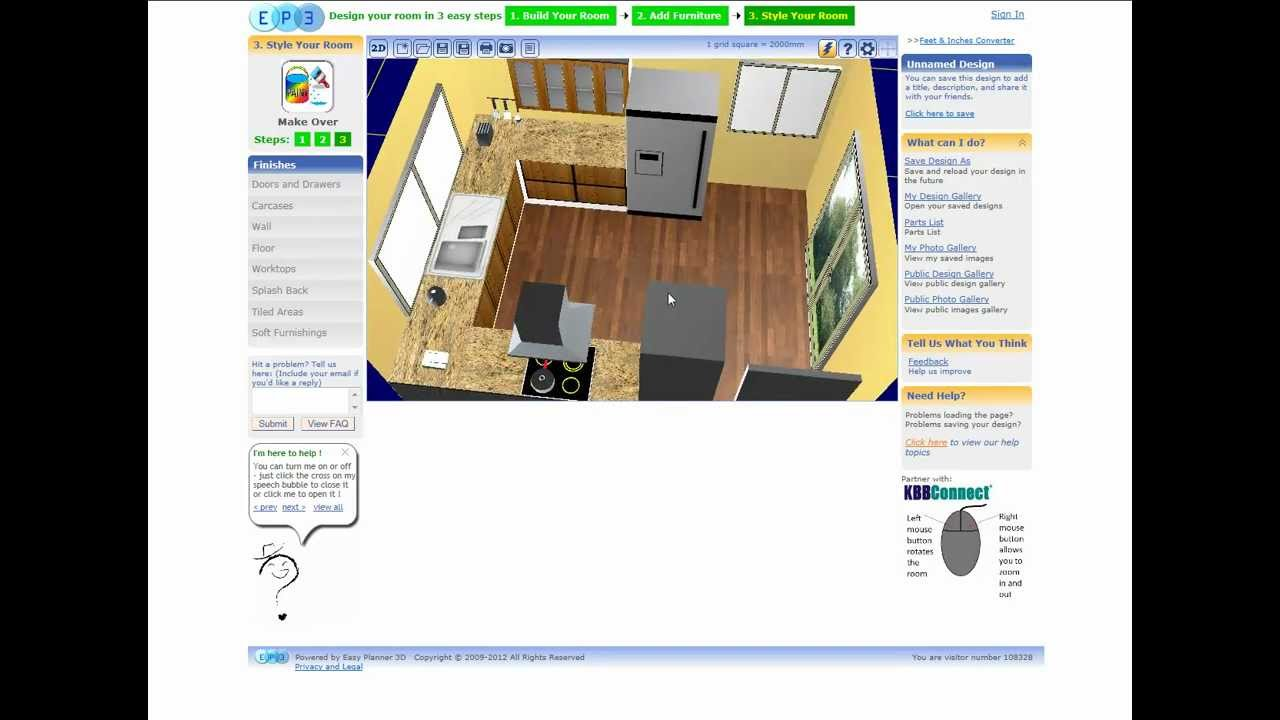 Easy Planner 3d Kitchen Design Youtube