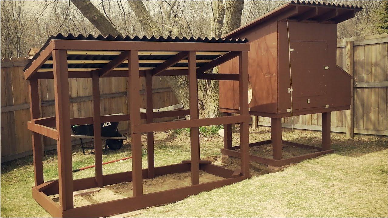 Suburban Backyard Chickens : Easy to Clean Backyard Suburban Chicken Coop  YouTube