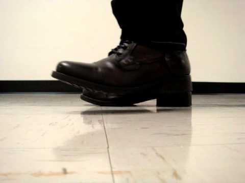 Noisy boots walking around hallways at school