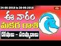 Capricorn Weekly Horoscope By Dr Sankaramanchi Ramakrishna Sastry   24 June 2018 - 30 June 2018