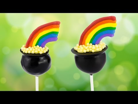 Pot of Gold Cake Pops for Saint Patrick's Day