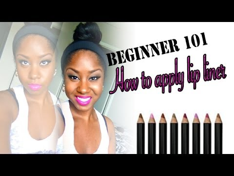 how to wear black lip liner
