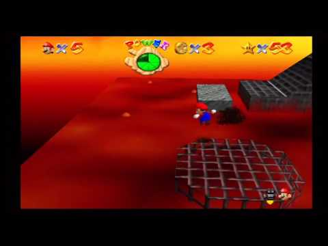 Super Mario 64: Lethal Lava Land (Red-Hot Log Rolling / Star #54)