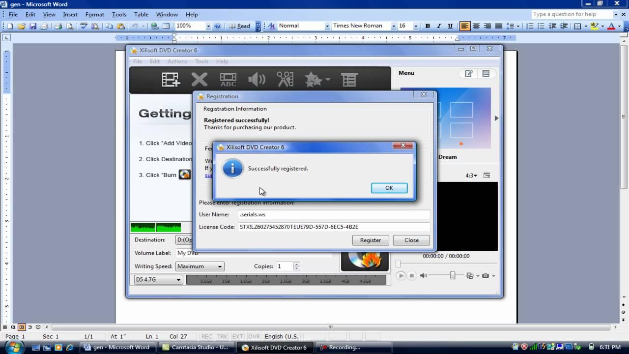 Wondershare DVD Creator Serial Number, Registration Code