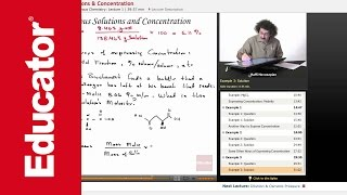 """Aqueous Solutions & Concentration"" 