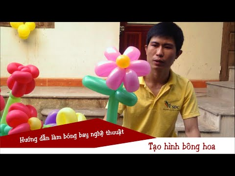 Hướng dẫn làm bông hoa bằng bóng bay | Make a flower from balloons