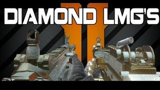 Black Ops 2 DIAMOND CAMO LMGs Diamond LMG Camos Black
