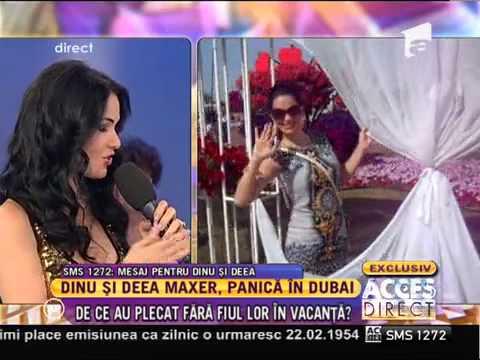 Deea şi Dinu Maxer, panică în Dubai: