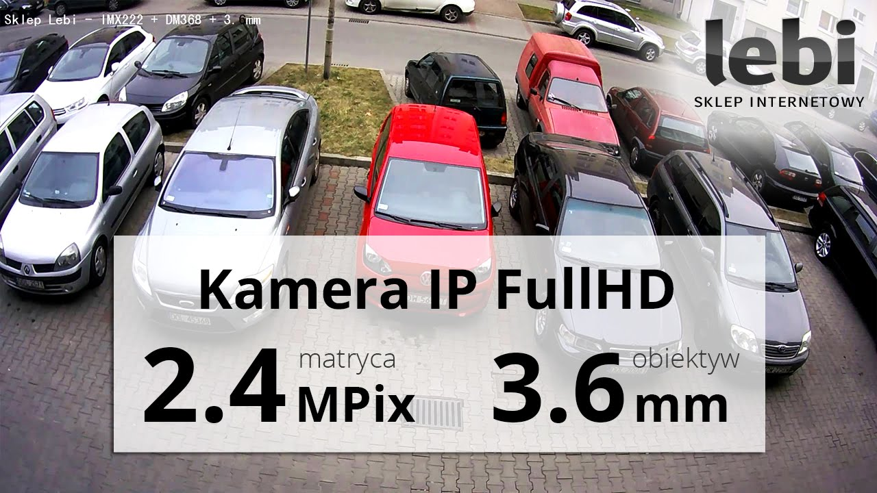 Kamera IP FullHD 1920*1080 - Nagranie w dzień