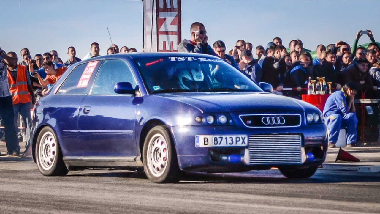 "TST-Racing Audi A3 10.026"" @ 402M // Kondofrey Drag ..."