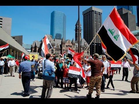 مسيرة تأيد ودعم لشعب وجيش العراق في تورنتو